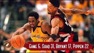 NBA Playoffs 2000. Portland Trail Blazers vs  LA Lakers - Game Highlights   Game 5   Shaq 31 HD 720p