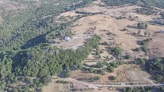 Parque de Los Alcornocales y Río Hozgarganta a Vista de Drone