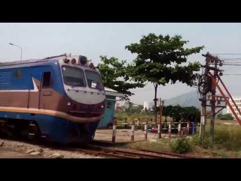 Diesel trains run in Viet nam