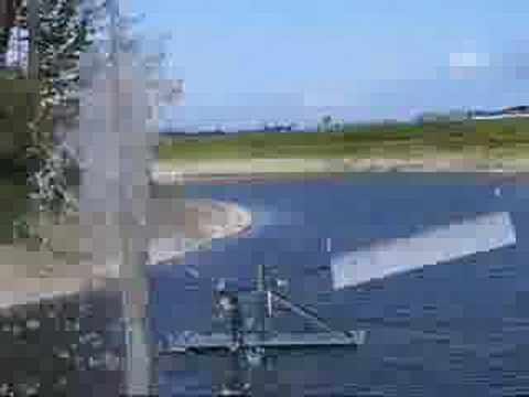 Pond Windpump Near Max Output In Higher Wind Econologica.org/flo-pump.html