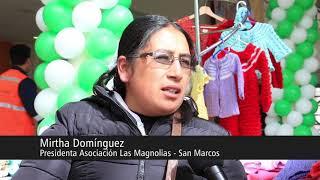 Madres tejedoras de Juprog y Carhuayoc participan en feria navideña en Yanacancha