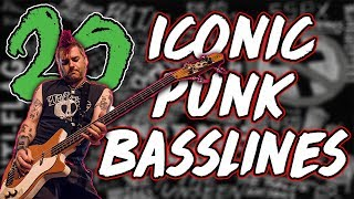 20 ICONIC Punk Bass Lines