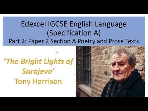 Analysis of 'The Bright Lights of Sarajevo' by Tony Harrison