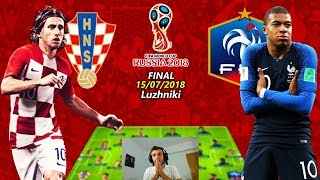 Franta vs Croatia - Finala Campionatului Mondial De Fotbal Din Rusia 2018