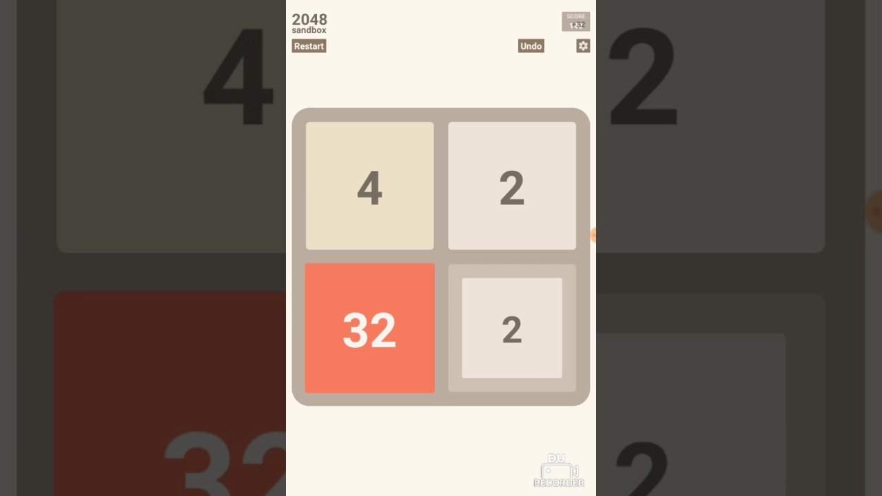 Largest number in 2048 2x2
