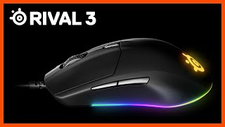 Rival 3: Hyper-durable SteelSeries Mouse with Prism lighting