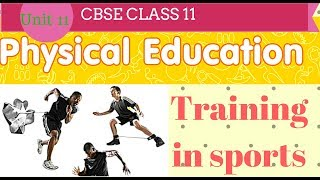 Training in sports class 11 Physical Education notes