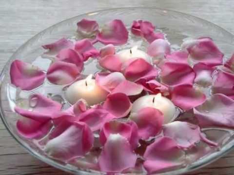 Floating Candles Wedding Centerpiece - YouTube
