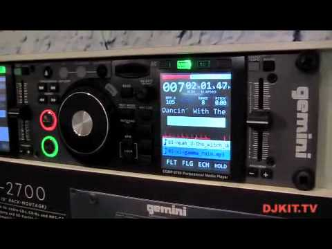 Gemini CDMP2700 Pro Dual CD/MP3/USB/Midi Player Controller @ MUSIKMESSE 2012 with DJkit.tv