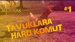 TAVUKLARA HARD KOMUT #1 | CS:GO JAILBREAK