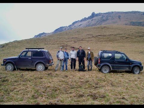 Suzuki Jimny и Нива 4х4 в горах. Кавказ КБР