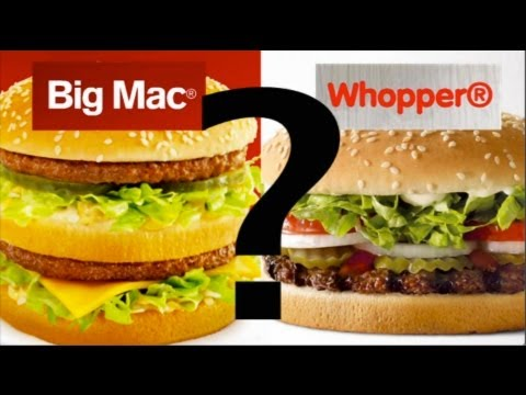 BIG MAC vs WHOPPER McDonald's vs Burger King (Hungry Jacks in Australia) Burger Content Review