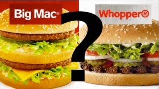 BIG MAC vs WHOPPER McDonald