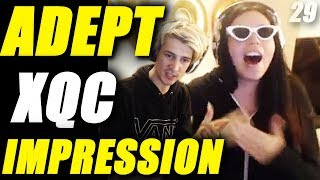 ADEPT DOES AN XQC IMPRESSION | XQC EXPLAINS WHY COMPETITIVE FORTNITE IS GARBAGE | FUNNY MOMENTS 29