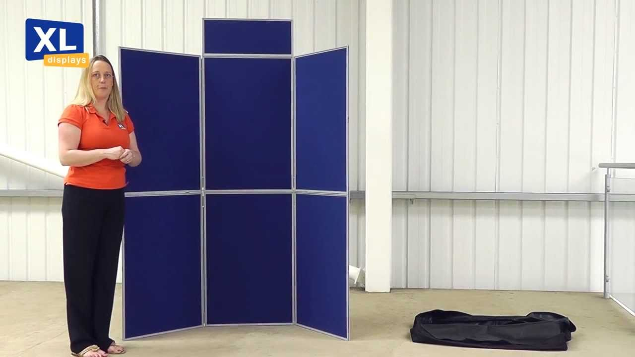 Portable Exhibition Display Boards : Display boards easyfold presentation and marketing folding display