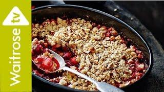 Cranberry and Marzipan Crumble  Waitrose