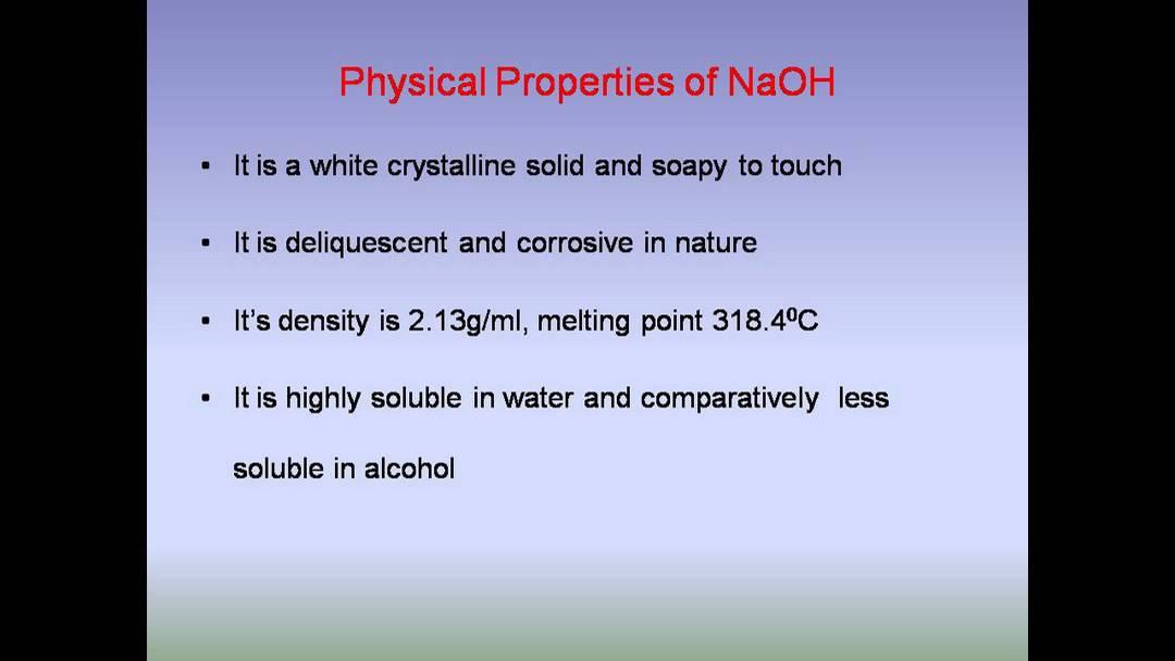 chemical properties of water