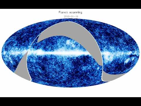Planck scanning - Galactic, mollweide