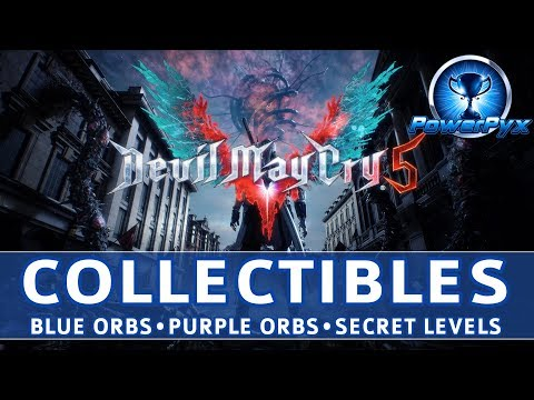 Devil May Cry 5 (DMC5) - All Collectible Locations (Blue & Purple Orb Fragments, Secret Missions) thumbnail