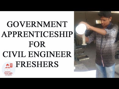 Government Apprenticeship For Civil Engineer Freshers