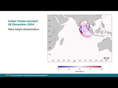 2004 Indian Ocean tsunami wave height dissemination