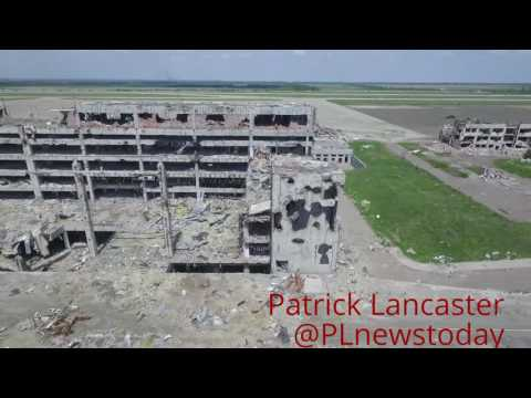 Drone footage of Donetsk Airport after 3 years of the Ukraine War