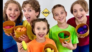 Learn Preschool Words! Pretend Play Fruits and Vegetables with Sign Post Kids!
