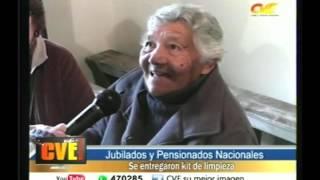 Se entregaron kit de limpieza a JUbilados y Pensionados Nac