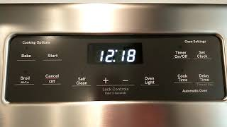 GE Oven - Set Clock - Change T…