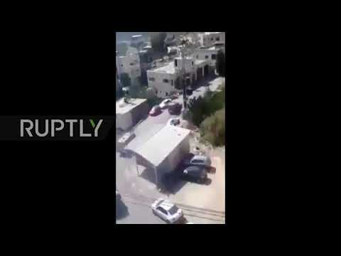 State of Palestine: Protesters hurl rocks at convoy of Israeli soldiers