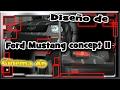 Ford Mustang concept II, Cinema 4D+Blueprints.