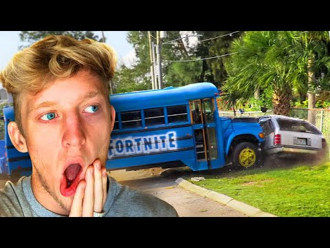 I CRASHED THE FORTNITE BATTLE BUS