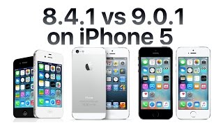 iPhone 5 iOS 9.0.1 vs iOS 8.4.1