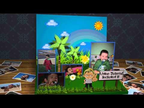 3D Children Photo Book   Apple Motion Template