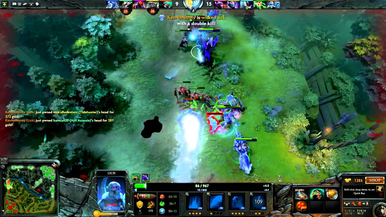 how did i not die dota 2 multiplayer gameplay lich youtube