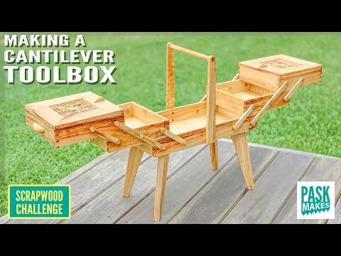 Making a Cantilever Toolbox - Scrapwood Challenge ep35