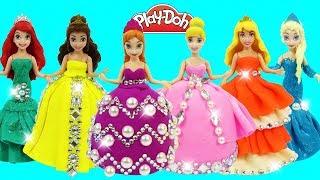 DIY Making Play Doh Dresses for Disney Princess Dolls