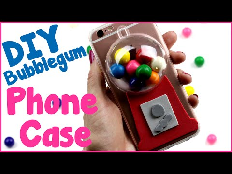 DIY Crafts: How To Make A Bubblegum Phone Case - Easy DIY Phone Case Tutorial