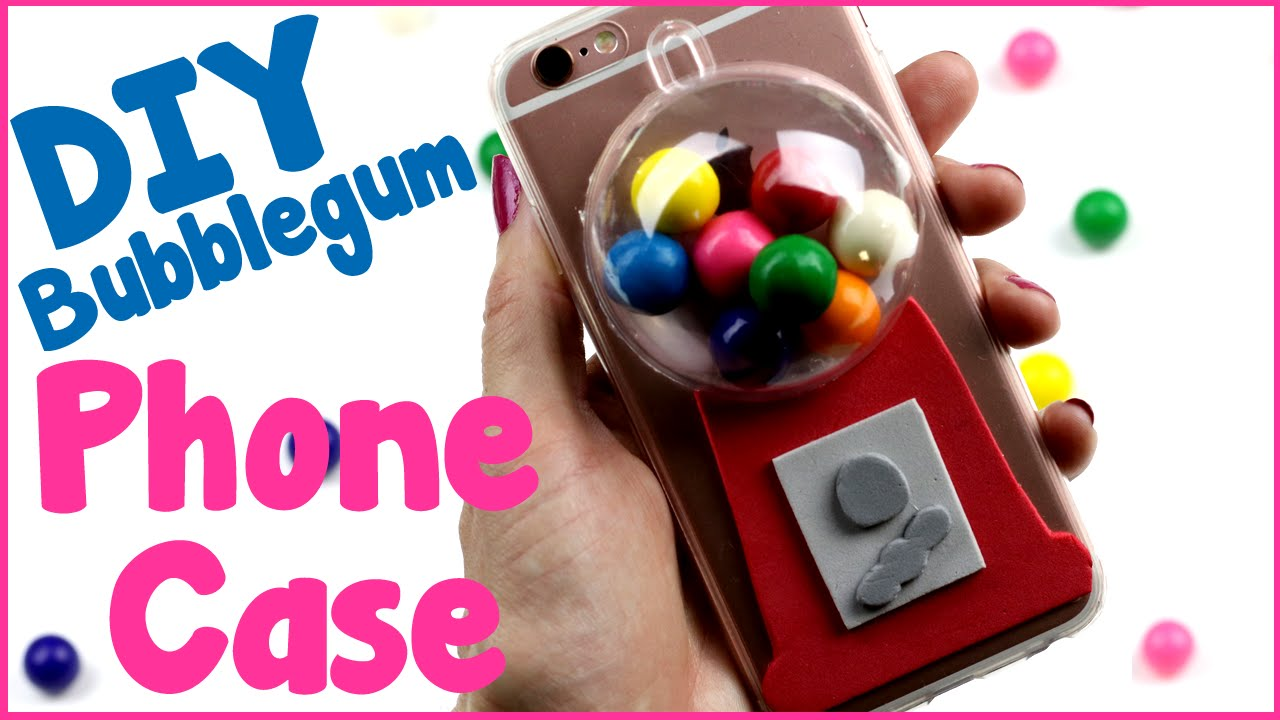 Diy Crafts How To Make A Bubblegum Phone Case Easy Diy