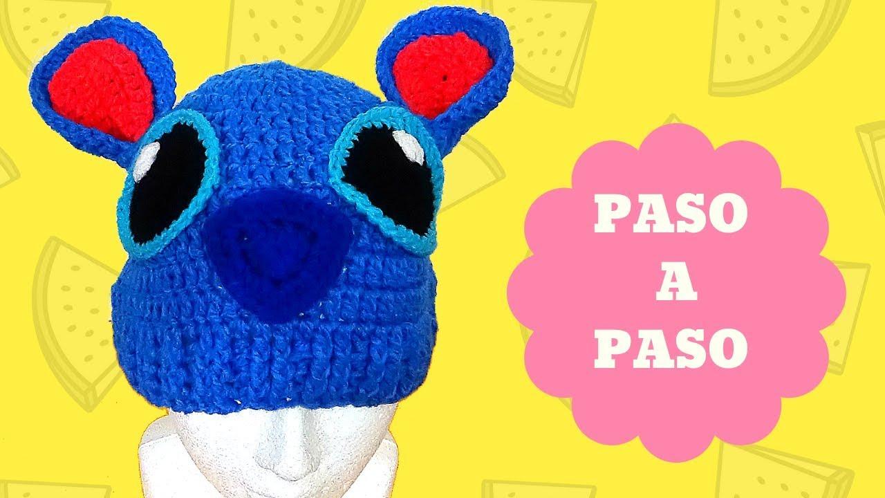 203977b1210a8 LILO Y STITCH - GORRO TEJIDO PASO A PASO - YouTube