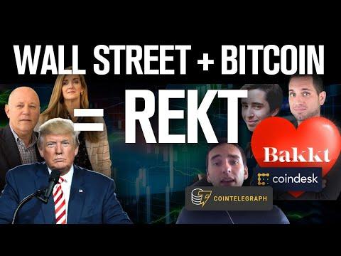 Bitcoin PUMP! Bakkt Savior!? No Fools! Wall St+BTC=REKT