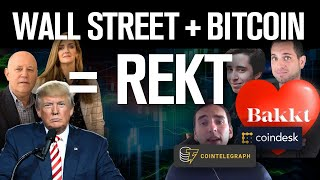 Bitcoin PUMP! Bakkt Savior!? No Fools! Wall St+BTC=REKT