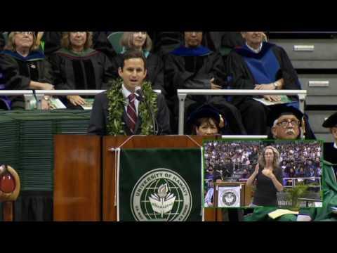Sen. Brian Schatz Delivers 2016 University of Hawaii Commencement Speech