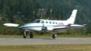 Cessna 340 Approach and Landing