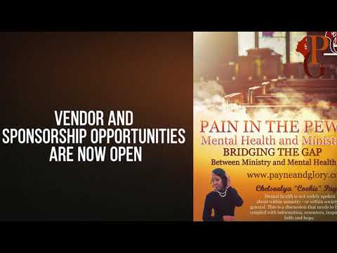 Pain In The Pews: Mental Health and Ministry Conf 2018 Promo