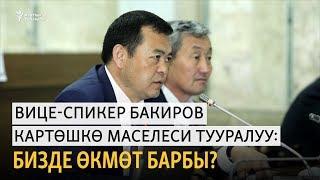 Вице-спикер Бакиров картөшкө маселеси тууралуу: Бизде өкмөт барбы?