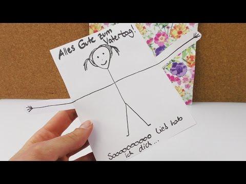 Diy Idee Für Den Vatertag Super Süße Karte Selber Machen