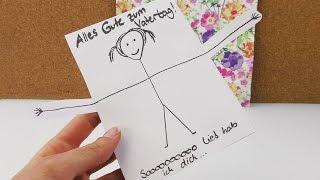 DIY Idee für den Vatertag | Super süße Karte selber machen | Einfach, schnell & niedlich | Geschenk