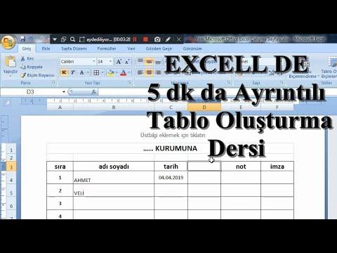 Excel proqramında ilkin anlayışlar 1 - Excel dərsləri #01