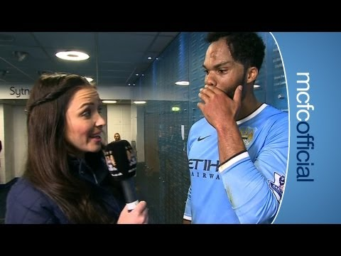 City 3-1 Everton - Natalie Pike interviews Joleon Lescott